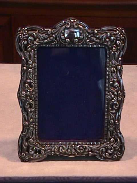 cornice portafoto antica argento