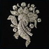 Brooch antique platinum diamonds